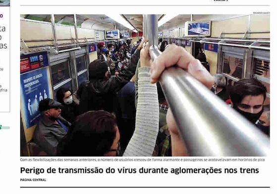 Front page of newspapers in Brazil: easing isolation