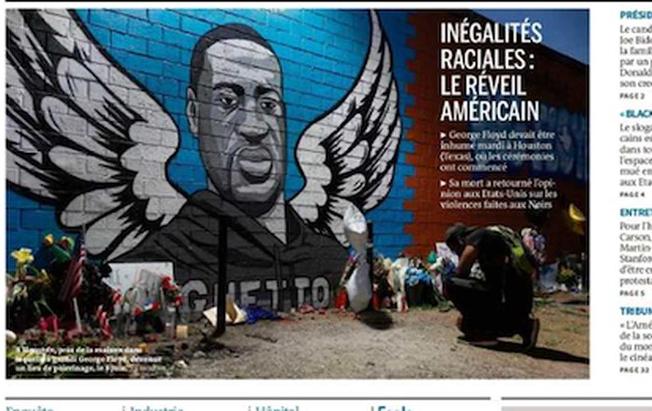 Le Monde, June 9, 2020: American awakening to social inequalities