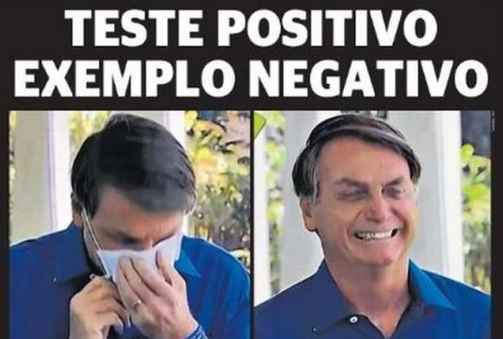 Front page of Brazilian newspapers: Bolsonaro contaminated