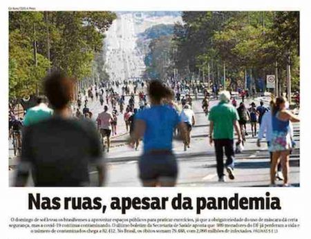 Front page of Brazilian newspapers: country returns to the streets
