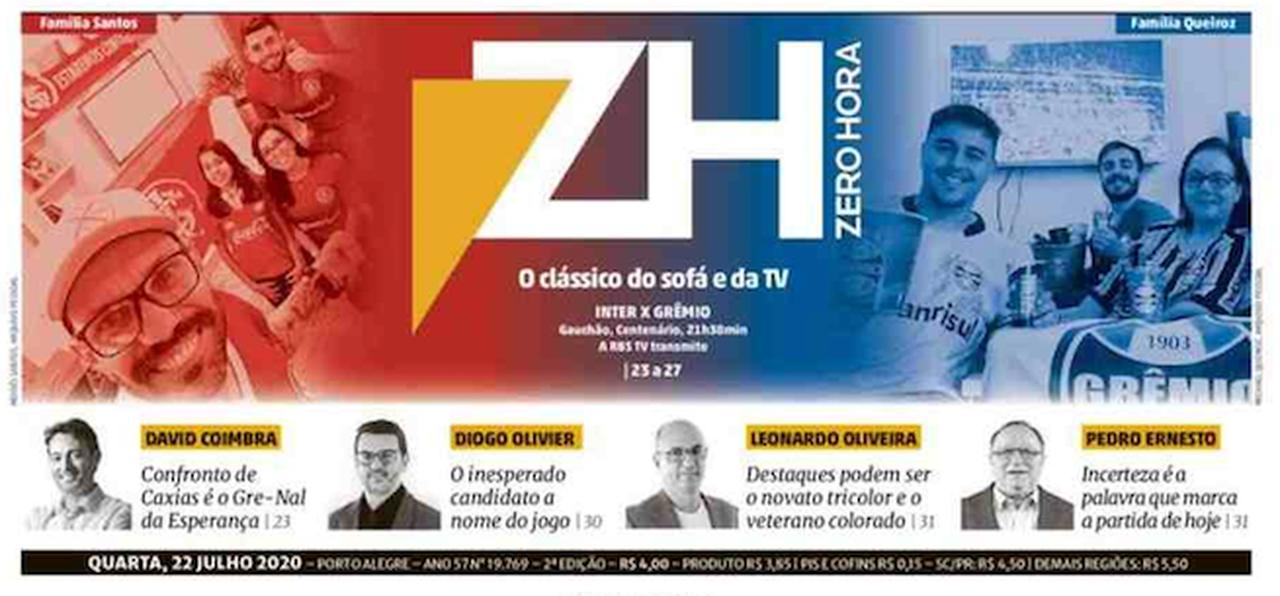 Front page of Brazilian newspapers: the return of football