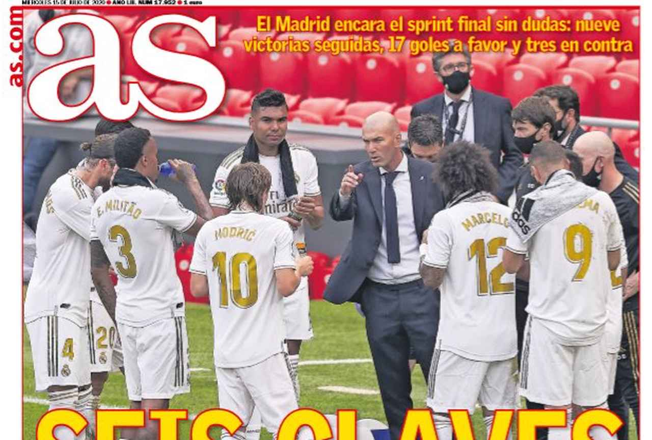 Front page of sports newspapers: title without agglomeration