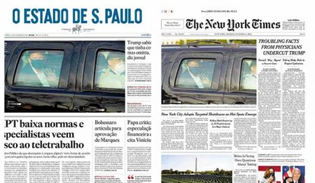newspapers front pages