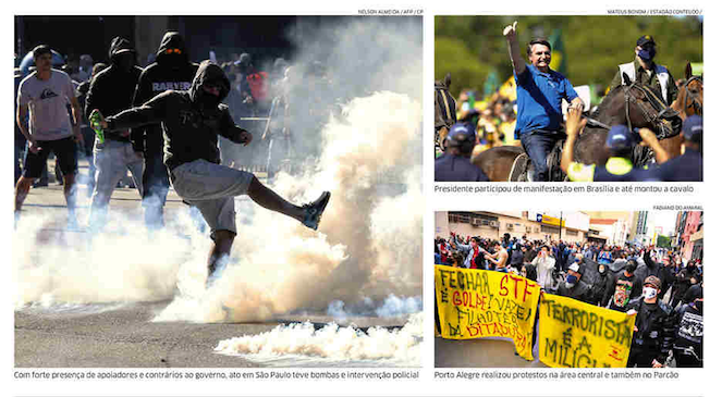Brazil registers demonstration for and against Bolsonaro government: front pages june 1, 2020