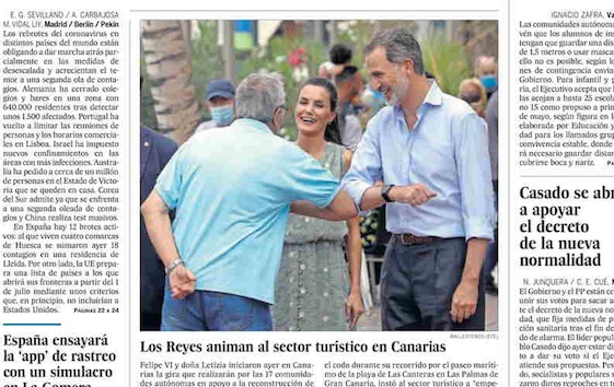 EL PAÍS front page: the time of the second wave