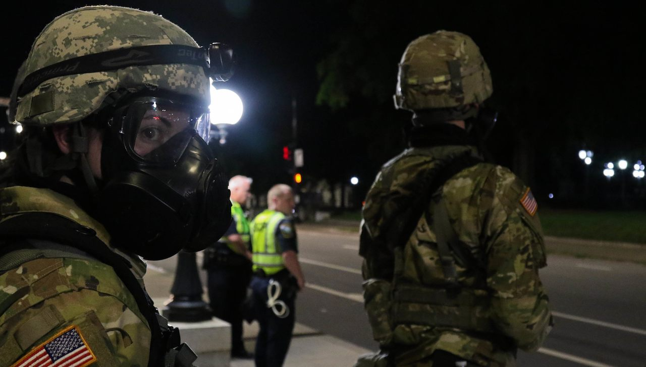 Washington: Total National Guard staff is used against protesters