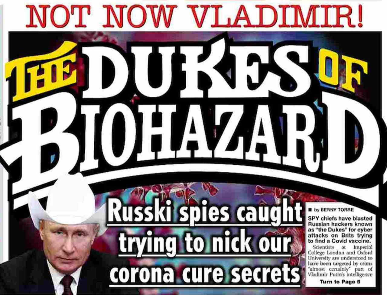 Front page of the world's newspapers: Russia accused of virtual invasion