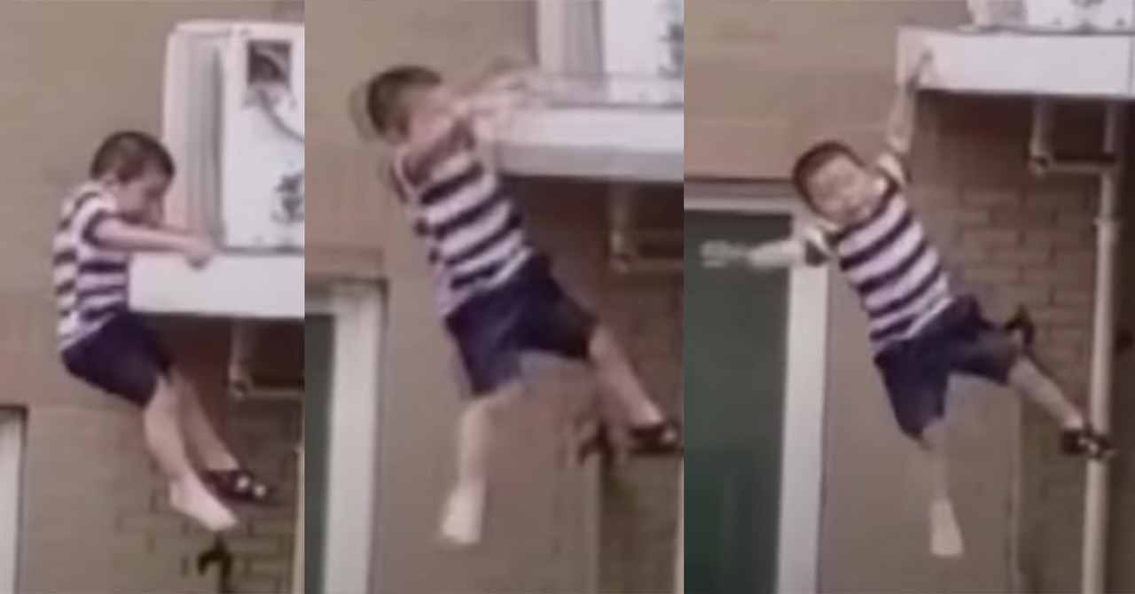 Heroism: man saves two-year-old child who fell from the fourth floor