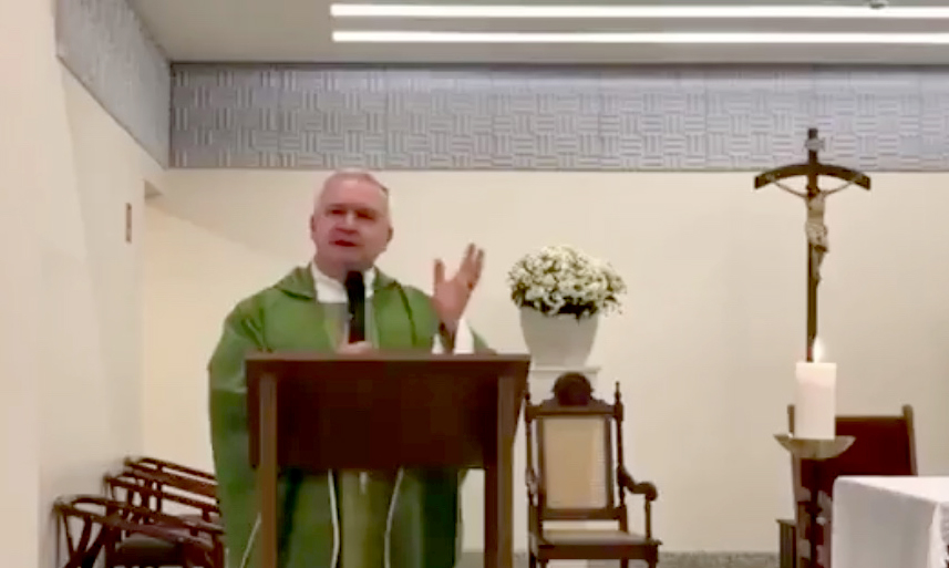 Priest calls Bolsonaro a 'bandit' and says he needs to confess